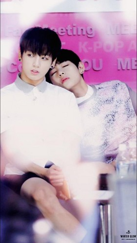 VKook (BTS) वॉलपेपर probably with a portrait called VKook ♥