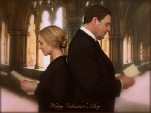 Downton Abbey hình nền with a business suit called Valentine's ngày for Anna & Bates