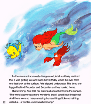 Walt Дисней Book Обои - The Little Mermaid: Ariel and the Mysterious World Above