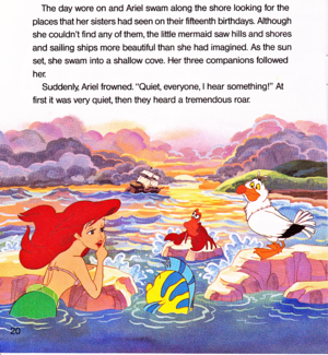 Walt disney Book imagens - The Little Mermaid: Ariel and the Mysterious World Above