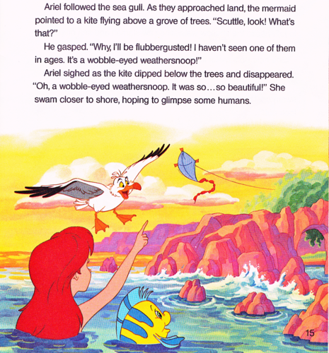 Walt Disney Characters karatasi la kupamba ukuta probably containing anime entitled Walt Disney Book picha - The Little Mermaid: Ariel and the Mysterious World Above