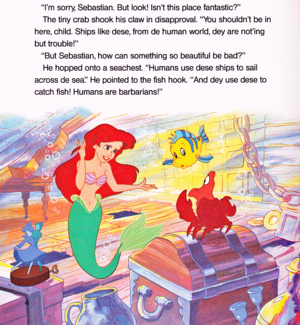 Walt ディズニー Book Scans - The Little Mermaid: Ariel and the Secret Grotto (English Version)