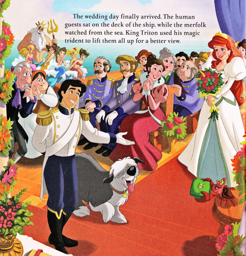 Герои Уолта Диснея Обои possibly containing Аниме called Walt Дисней Book Scans - The Little Mermaid: Ariel's Royal Wedding (English Version)