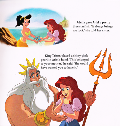 Karakter Walt Disney kertas dinding probably containing Anime called Walt Disney Book Scans - The Little Mermaid: Ariel's Royal Wedding (English Version)