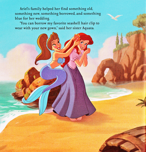 Walt Disney Characters wallpaper probably containing anime entitled Walt Disney Book Scans - The Little Mermaid: Ariel's Royal Wedding (English Version)