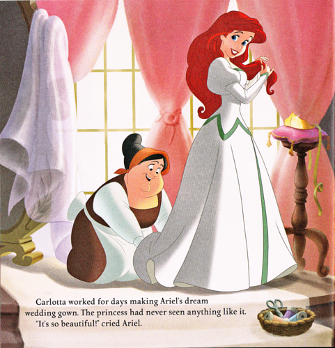 personnages de Walt Disney fond d'écran called Walt Disney Book Scans - The Little Mermaid: Ariel's Royal Wedding (English Version)