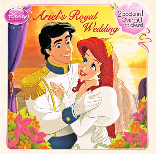 Walt Disney-Figuren Hintergrund containing Anime titled Walt Disney Book Scans - The Little Mermaid: Ariel's Royal Wedding (English Version)