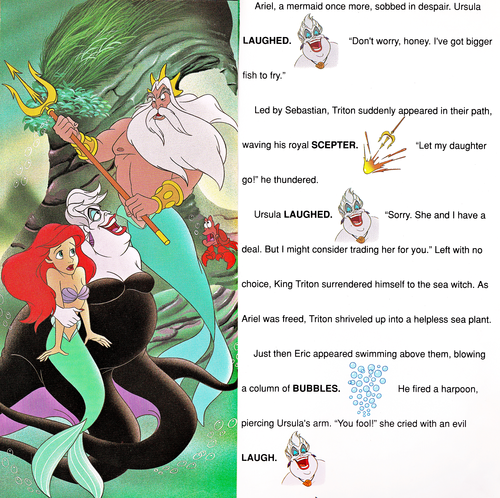 Walt Disney-Figuren Hintergrund titled Walt Disney Book Bilder - The Little Mermaid: Golden Sound Story