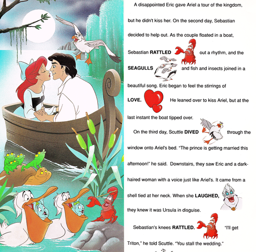 Walt Disney Characters achtergrond titled Walt Disney Book afbeeldingen - The Little Mermaid: Golden Sound Story