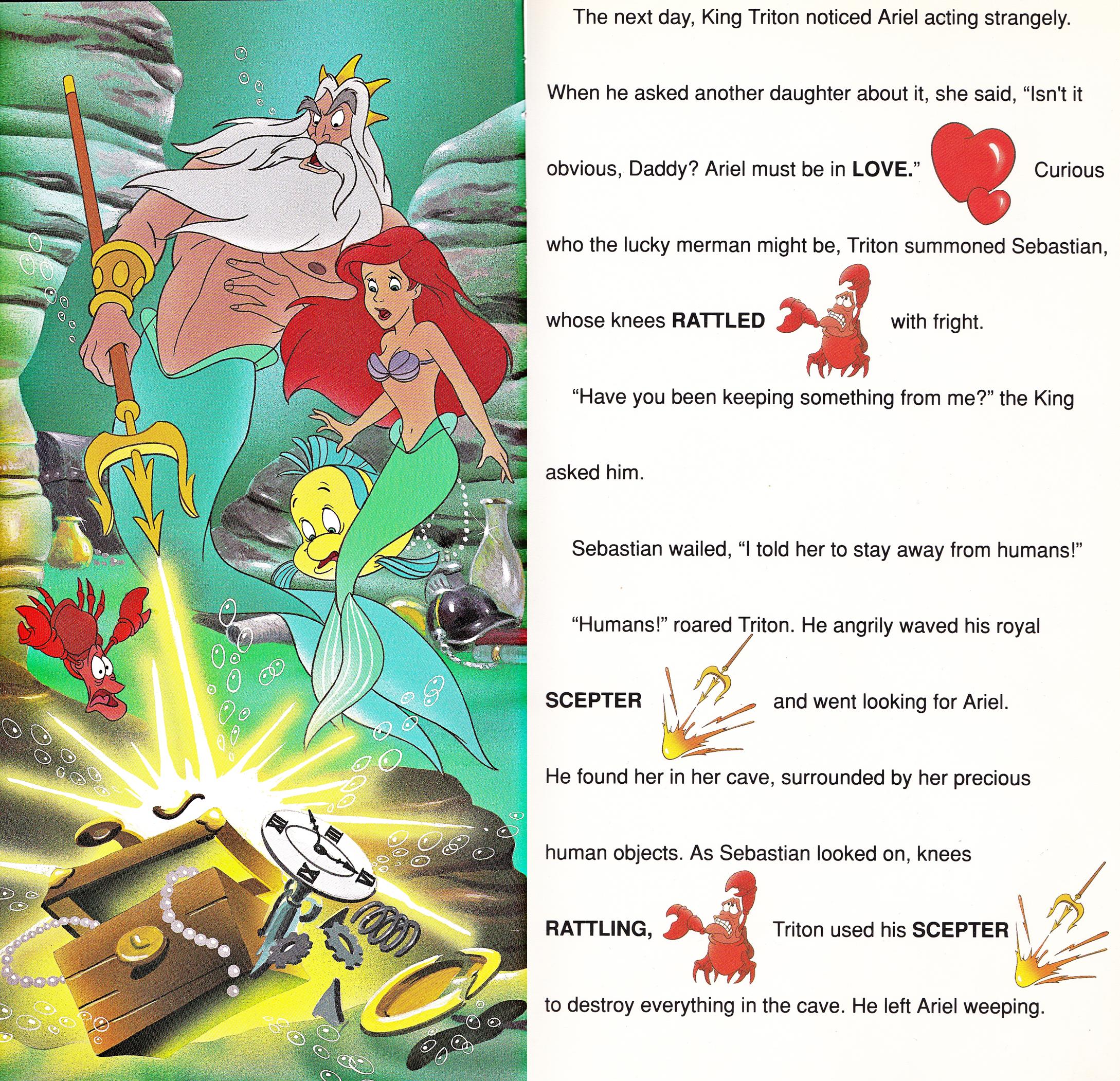 Walt ডিজনি Book প্রতিমূর্তি - The Little Mermaid: Golden Sound Story