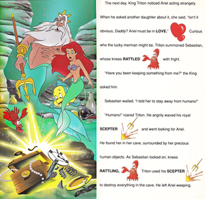Walt disney Book gambar - The Little Mermaid: Golden Sound Story