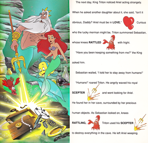 Karakter Walt Disney kertas dinding entitled Walt Disney Book imej - The Little Mermaid: Golden Sound Story