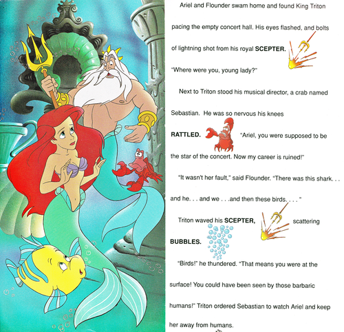 Walt Disney Characters wallpaper called Walt Disney Book Images - The Little Mermaid: Golden Sound Story