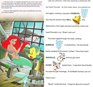 Walt Disney Book تصاویر - The Little Mermaid: Golden Sound Story