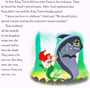 Walt Disney Book Scans - The Little Mermaid: cá mập Surprise (English Version)