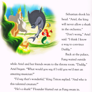 Walt disney Book Scans - The Little Mermaid: tubarão Surprise (English Version)