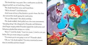 Walt डिज़्नी Book Scans - The Little Mermaid: शार्क Surprise (English Version)