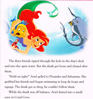 Walt 디즈니 Book Scans - The Little Mermaid: 상어 Surprise (English Version)