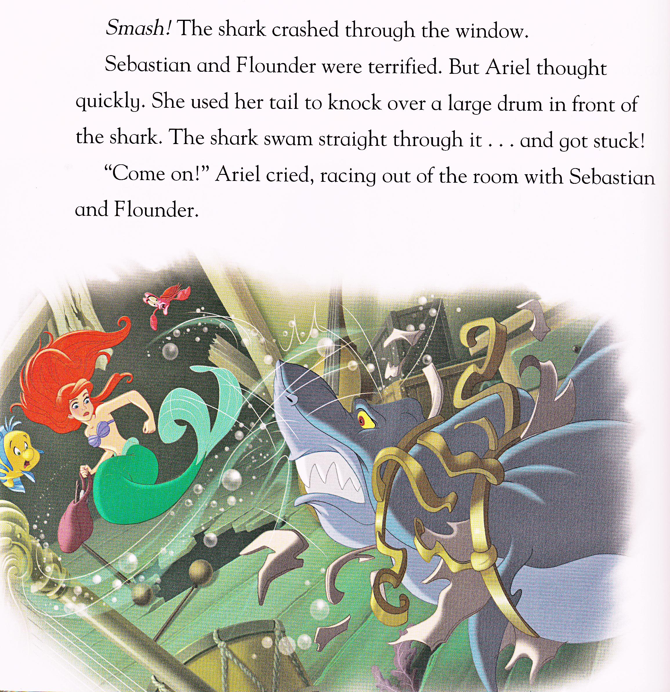 Walt Disney Book Scans - The Little Mermaid: haai Surprise (English Version)