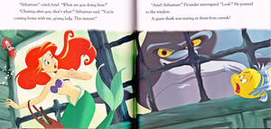 Walt disney Book Scans - The Little Mermaid: hiu Surprise (English Version)