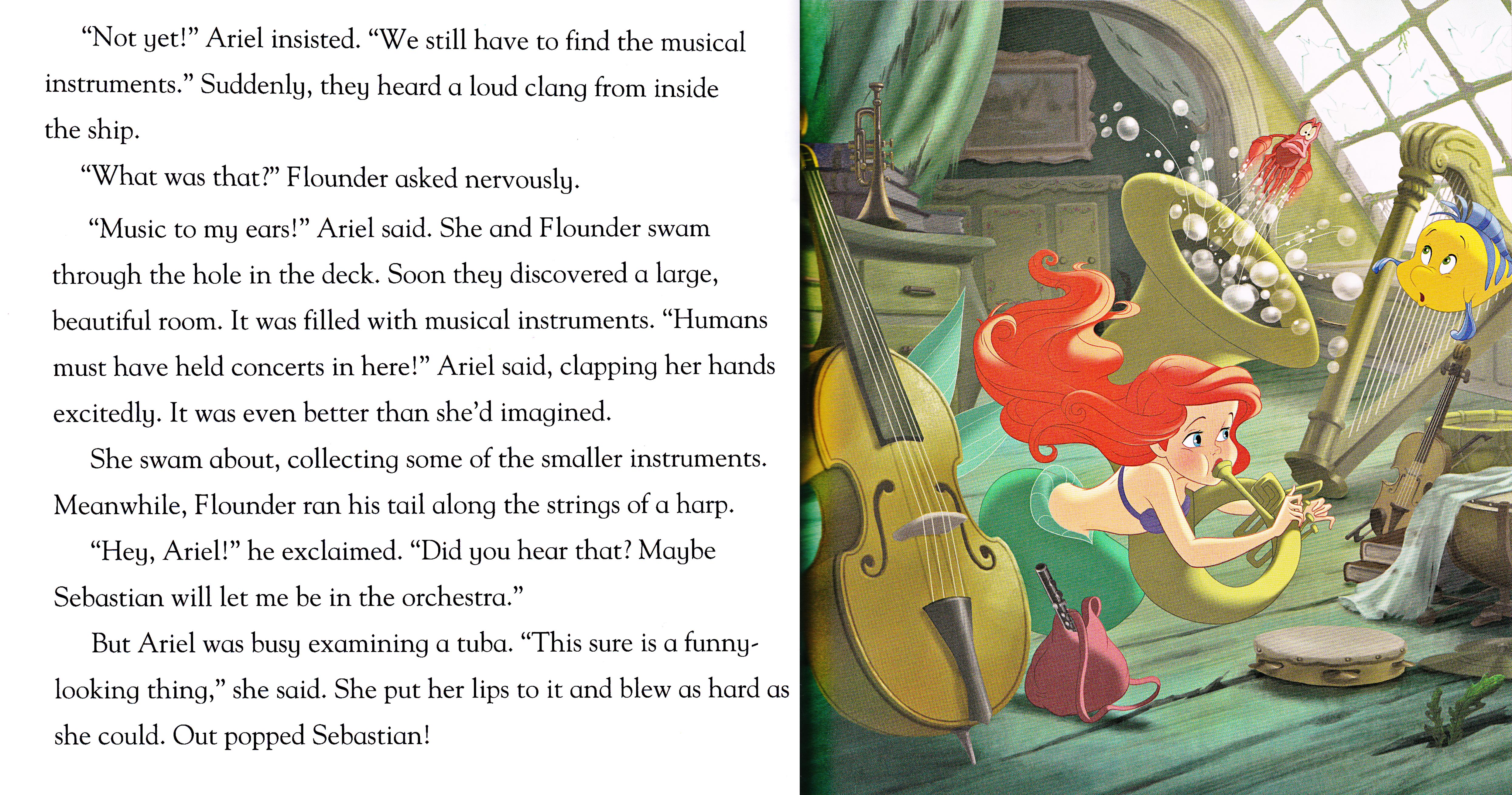 Walt Disney Book Scans - The Little Mermaid: Shark Surprise (English Version)