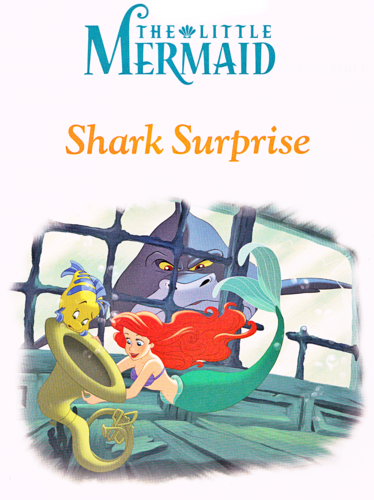 Walt Disney Characters wallpaper containing anime titled Walt Disney Book Scans - The Little Mermaid: Shark Surprise (English Version)