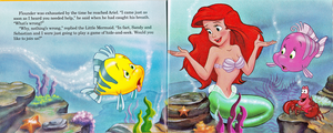Walt 디즈니 Book 이미지 - The Little Mermaid's Treasure Chest: An Undersea Wish