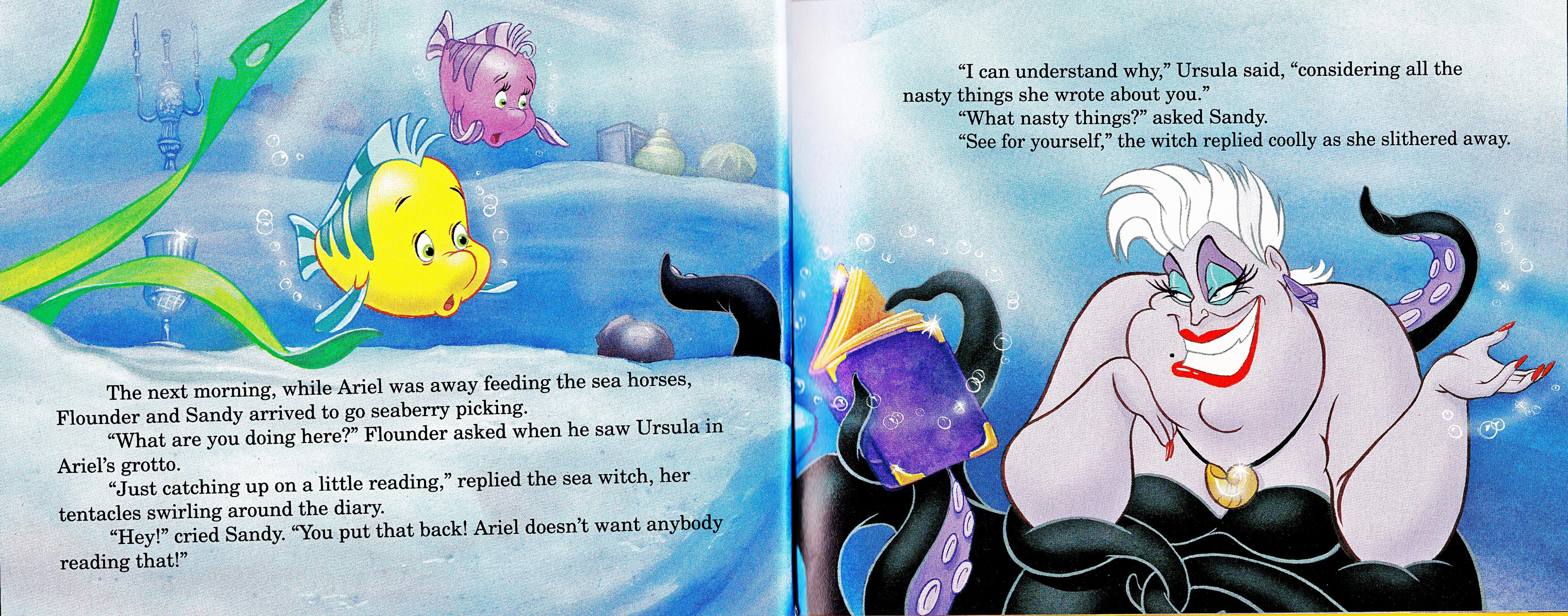 Walt Disney Book Scans - The Little Mermaid's Treasure Chest: Dear Diary