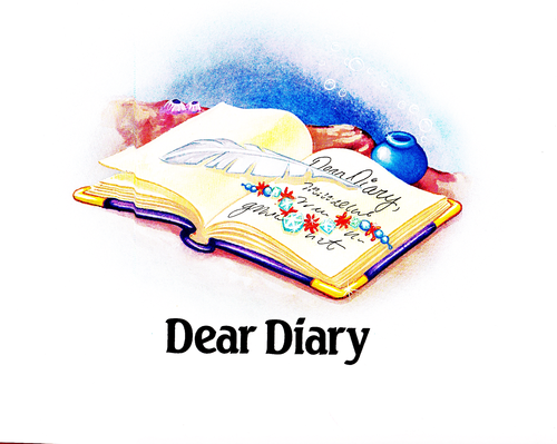 Walt Disney Characters karatasi la kupamba ukuta called Walt Disney Book Scans - The Little Mermaid's Treasure Chest: Dear Diary