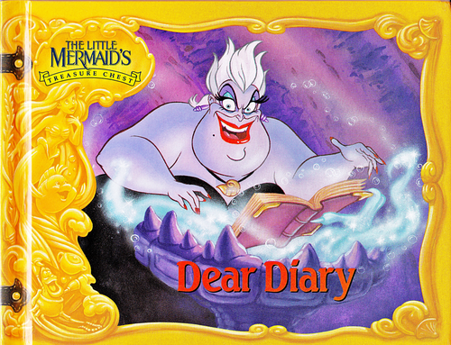 Walt Disney Characters karatasi la kupamba ukuta with anime titled Walt Disney Book Scans - The Little Mermaid's Treasure Chest: Dear Diary