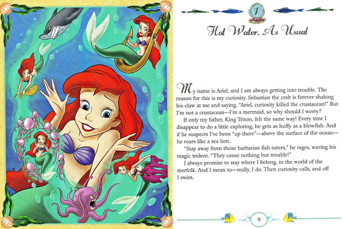 personnages de Walt Disney fond d'écran containing animé titled Walt Disney livres - The Little Mermaid: My Side of the Story (Princess Ariel)