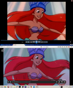 Walt disney imagens - The Little Mermaid Tv-series: Tv-rip vs Netflix HD
