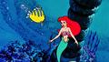 Walt Disney Screencaps - Flounder & Princess Ariel - walt-disney-characters photo