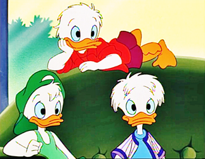 Walt 디즈니 Screencaps - Louie Duck, Huey 오리 & Dewey 오리