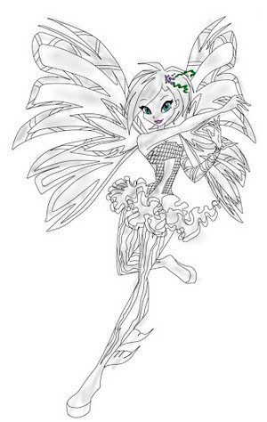 Winx Club Tecna Sirenix Drawing 2D