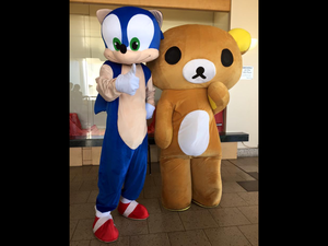 Young Sonic and Riki-Sama are best Buds!