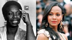 Zoe Saldana portrays Nina Simone in the upcoming movie 'Nina'.