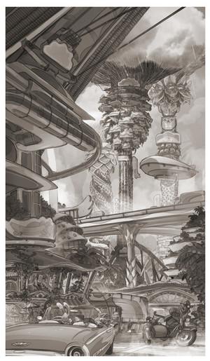 Zootopia Concept Art da Matthias Lechner