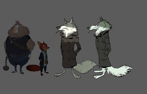 Disney's Zootopia Hintergrund possibly with a tabard, wappenrock and a surcoat, wappenrock called Zootopia Early Concept Art