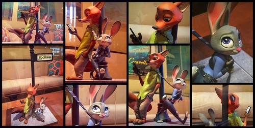Disney's Zootopia Hintergrund containing a stained glass window and Anime called Zootopia Concept Maquette
