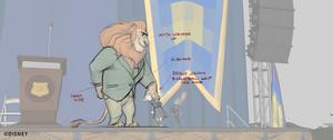 Zootopia - Mayor Lionheart phim hoạt hình draw overs