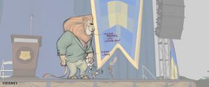 Zootopia - Mayor Lionheart اندازی حرکت draw overs