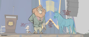 Zootopia - Mayor Lionheart animazione draw overs