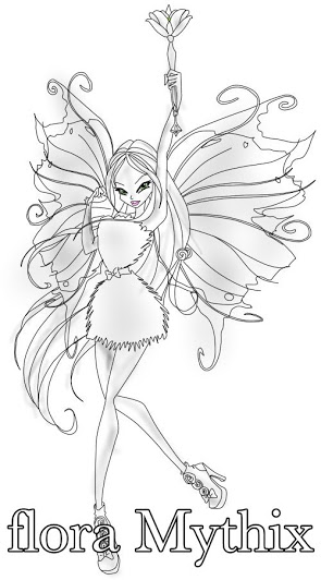 flora mythix winx club Drawing mythix 2D