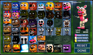 fnafworld character list update