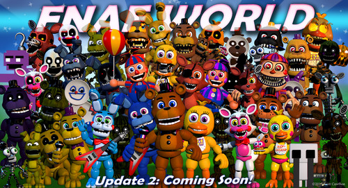 Five Nights at Freddy's پیپر وال entitled fnafworld update 2