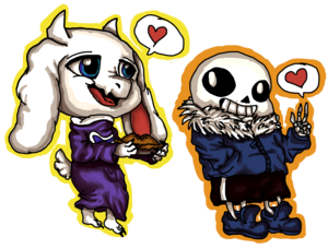 goat moms got the pie and Sans loves it