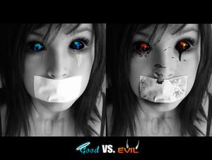 good vs evil achtergrond