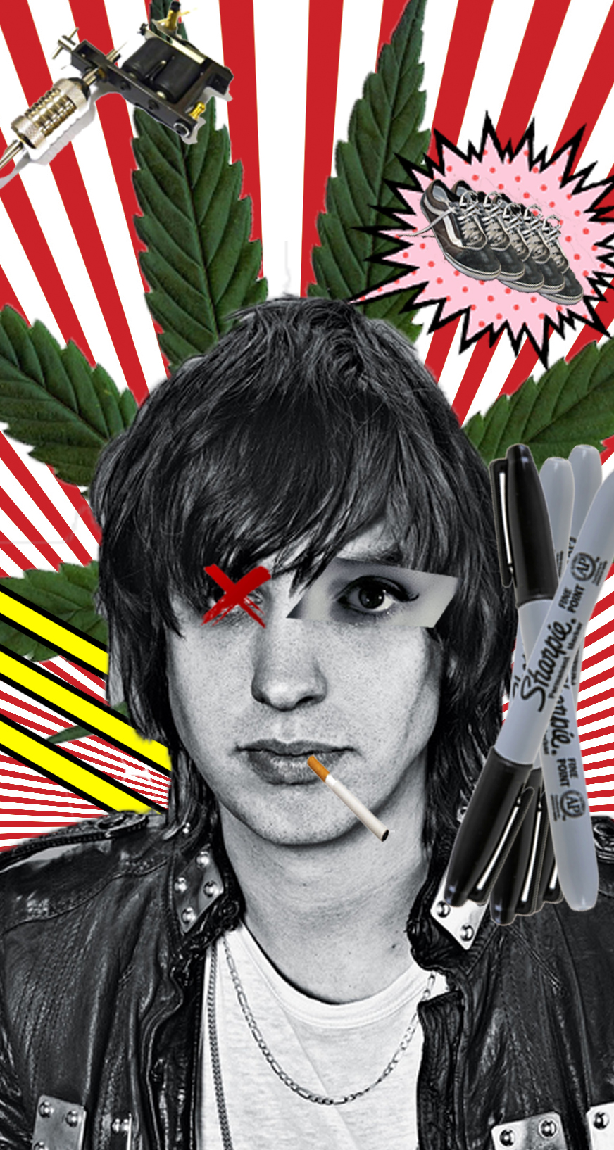 Julian Casablancas Rocks Pop Art Wallpaper 39346727 Fanpop
