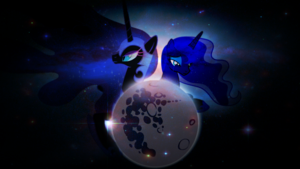 mlp fim princess luna and nightmare moon Обои